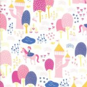 Moda - Once Upon a Time - Stacey Iest Hsu - 6233 - Palace Grounds, White - 20592 11 - Cotton Fabric